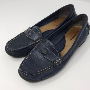 Hush puppies navy loafers